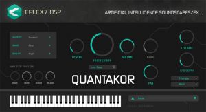 Quantakor plug-in instrument for WIN / MAC with sound generated by artificial intelligence