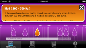 Mix Buddy - frequency of EQ Blueprint selected