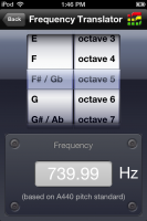 Producer Tools iOS Frequency Translator