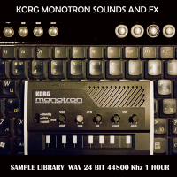 KORG MONOTRON sample library – vintage style analog synth samples of synthesizer