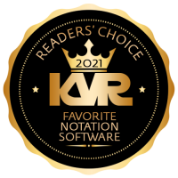 Favorite Software for Notation / Scoring - Best Audio and MIDI Software - KVR Audio Readers' Choice Awards 2021