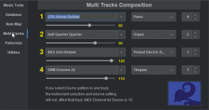 Multi Tracks Composition with Patterns