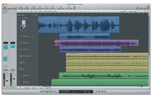 Kajagoogoos Too Shy seen in wave form in Logic Pro
