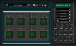 MacDrums Drum machine for Mac and Pc