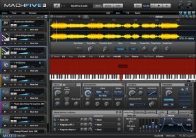 MOTU MachFive 3. MachFive provides cross-platform compatibility for the latest Mac and Windows operating systems. All instrument plug-in formats are supported - VST, AU, RTAS - as well as stand-alone capability. MachFive can open third party sample libraries directly - no time consuming conversion required.