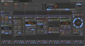 A complex preset using several effects and modulations