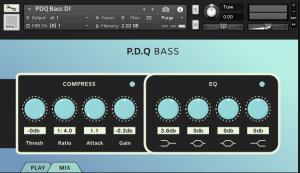 PDQ Bass - Aggressive Bass Guitar (Kontakt)