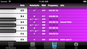 Mix Buddy - find note names, midi note numbers, frequencies and more