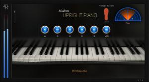 modern upright piano