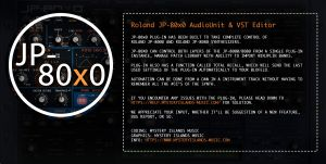 JP-80x0 Editor