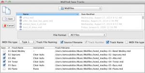 Save Tracks (Mac)