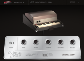 Fire - Spectral Modeled Rhodes Piano Bass