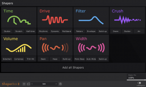 Shaper Selection Screen