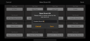 Create custom drum kits with sounds from other kits in Rhythm Pad (Version 5)