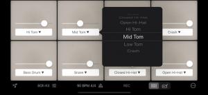 Customisation options in Rhythm Pad (Version 5)