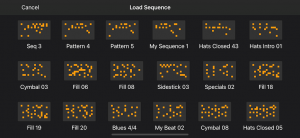 Save your drum patterns in Rhythm Pad (Version 5)