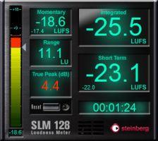 kvr steinberg releases slm 128 loudness meter free vst3 plug in. Black Bedroom Furniture Sets. Home Design Ideas