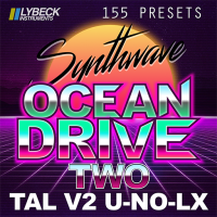Ocean Drive - Two - 155 Synthwave Presets for TAL V2 U-NO-LX