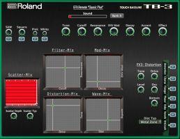 """Midi Sound Editor for Roland Aira TB-3: """" TB-3 Editor Classic PLUS"""""""
