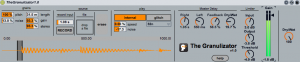 The Granulizator for Ableton Live