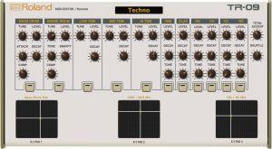 Roland TR-09 Midi Editor / Remote / Controller -VST / Standalone