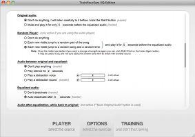 TrainYourEars EQ Edition - Options