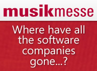Frankfurt Musikmesse 2013 - Where have all the software companies gone...?